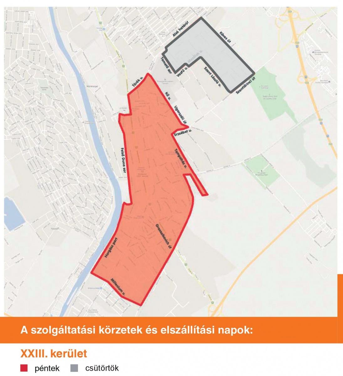 budapest 23 kerület térkép XXIII. kerület   Soroksár | Hamarosan a soroksári házaktól is  budapest 23 kerület térkép