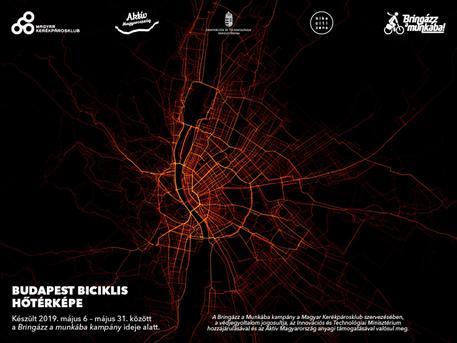 A legnépszerűbb budapesti bicikliutak a Bringázz a Munkába! kampány adatai alapján (forrás: Kerékpárosklub)