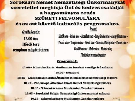 A szüreti felvonulás programja (Katt a nagyobb képért!)