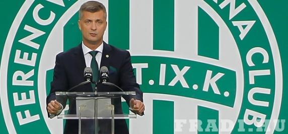 Az elnök (forrás: fradi.hu)